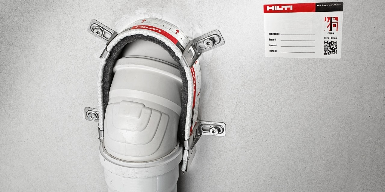 Hilti firestop endless collar