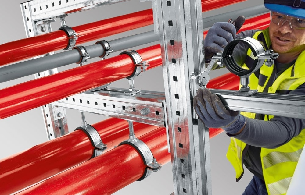 Hilti piping solution MIQ system for heavy duty applications