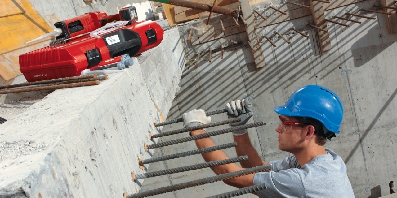 Hilti post installed rebar RE-500 and ED 3500-A