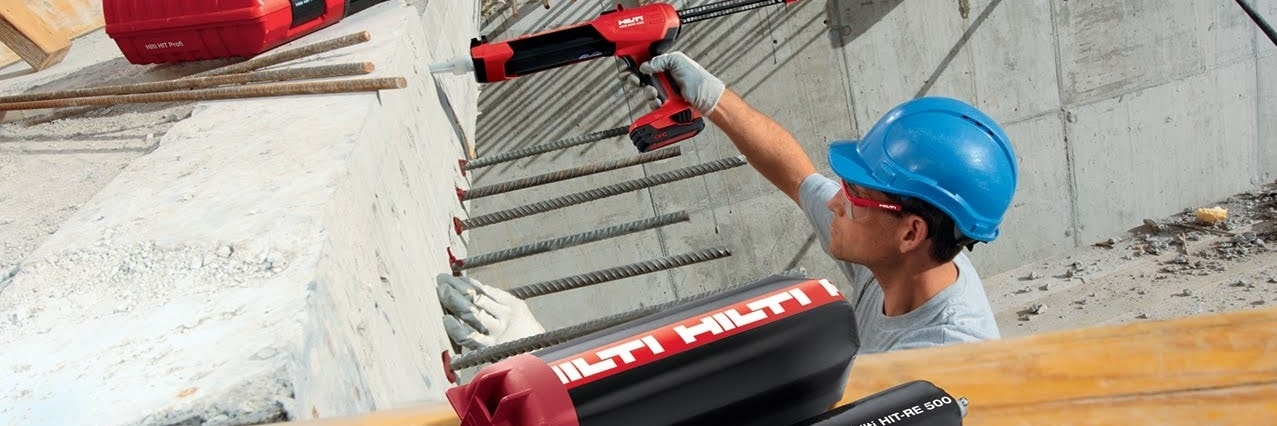 Hilti post-installed rebar applications