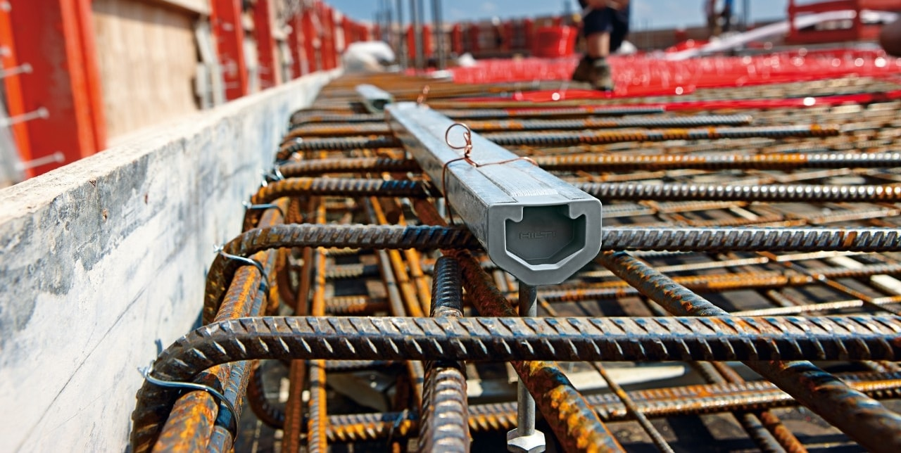 Hilti HAC cast-in anchor channels