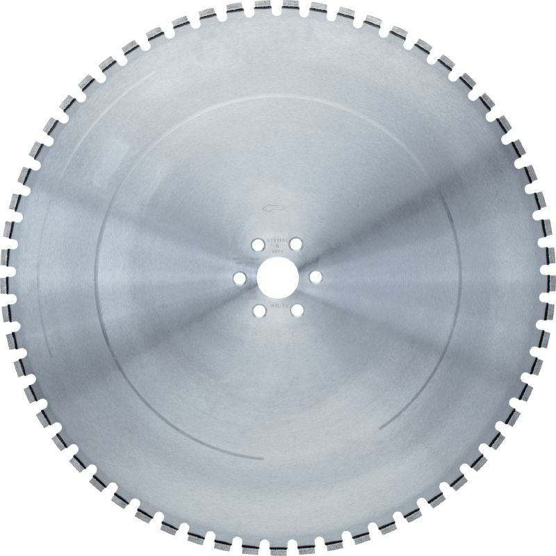 HCL Equidist-60H (fits on Hilti) Ultimate wall saw blade (20 kW) for high-speed cutting and a longer lifetime in reinforced concrete (60H arbor fits on Hilti wall saws)