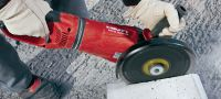 DCG 230-D 2600W angle grinder for cutting and grinding metal and minerals with discs up to 230 mm Applications 2
