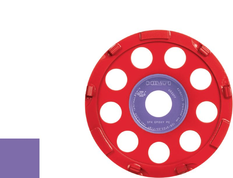 SPX epoxy Ultimate diamond cup wheel for angle grinders – for removing thick coatings such as epoxy